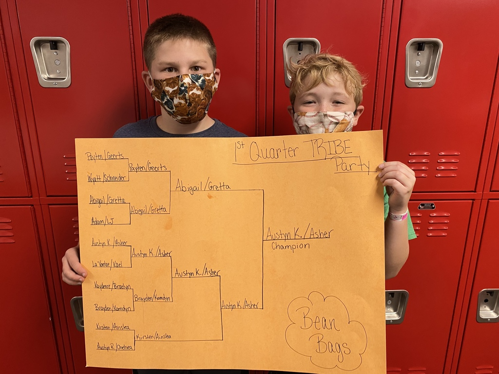 Bag Toss Bracket and Champions from Mrs. Geets Homeroom