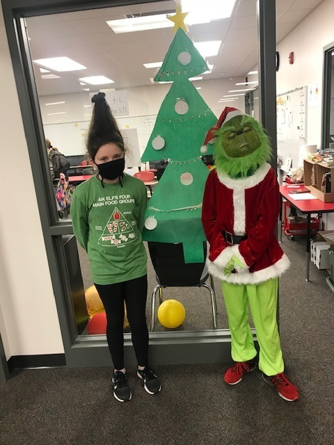 A couple 6th graders really got into Grinch Day today!