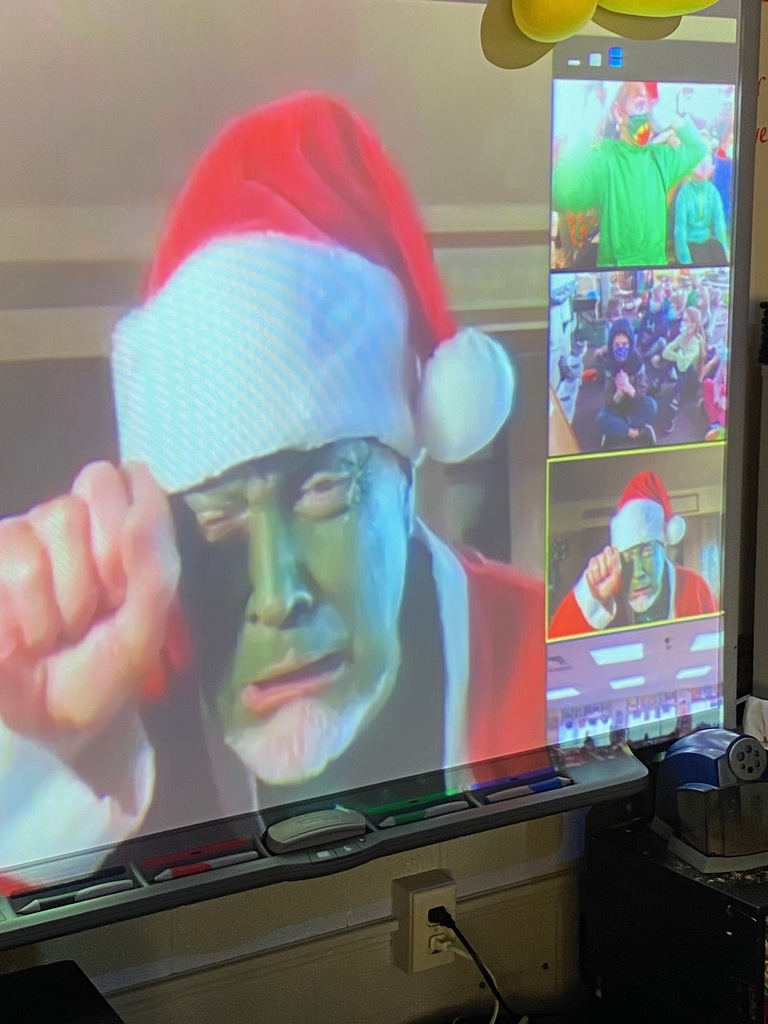 Second graders enjoyed a Zoom visit from the Grinch on Grinch Day this past Wednesday!