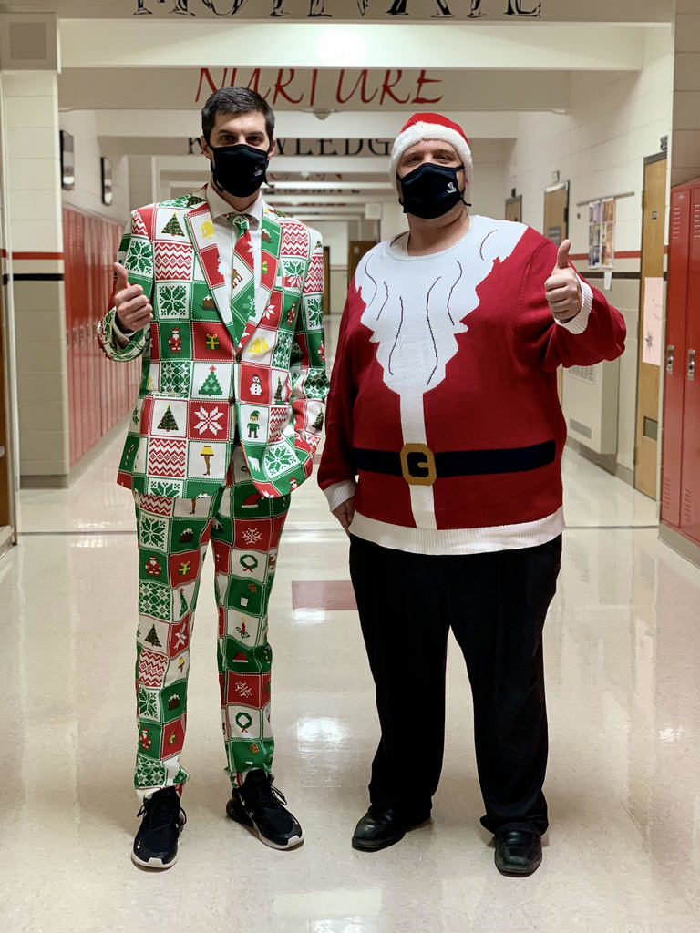 Principals with Christmas Spirit