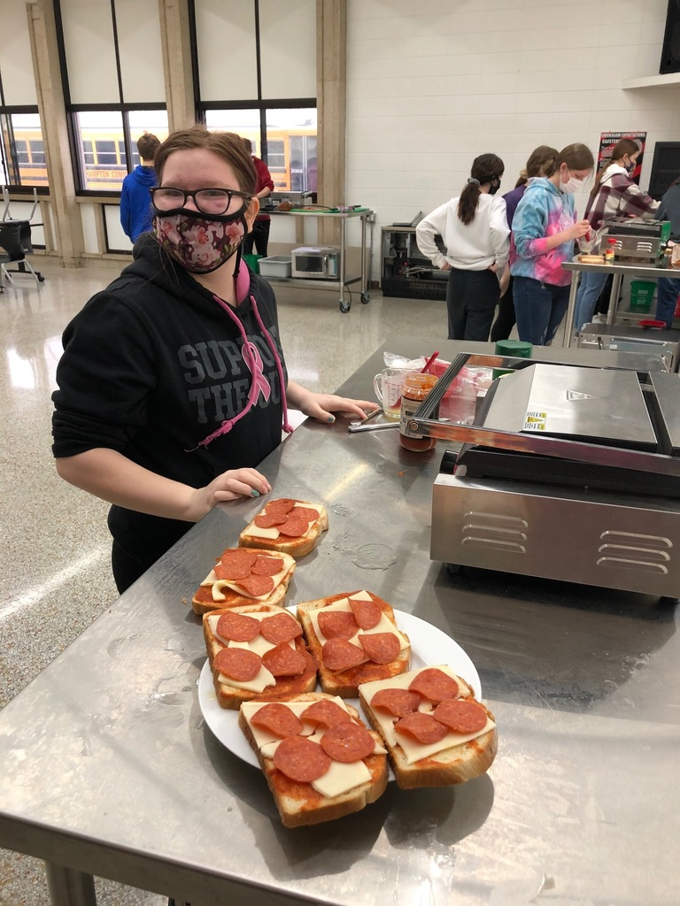 Panini Food Labs were a success during Mrs. Schmitt's Foods I Class this last week.