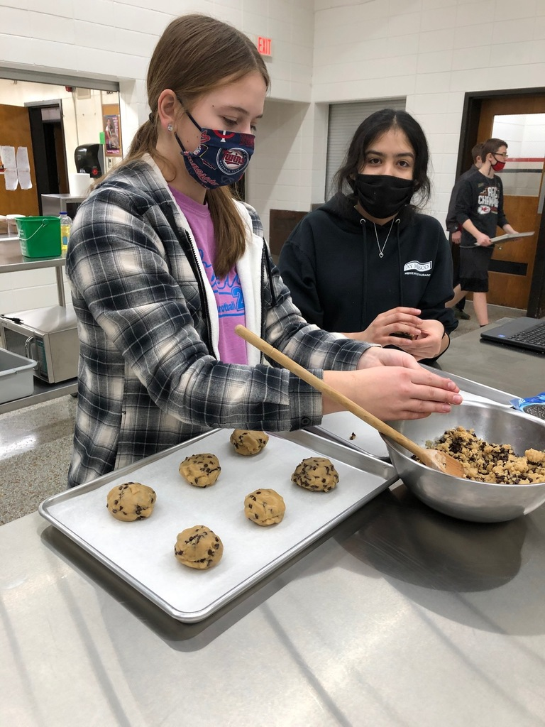 Students were making the cookies.