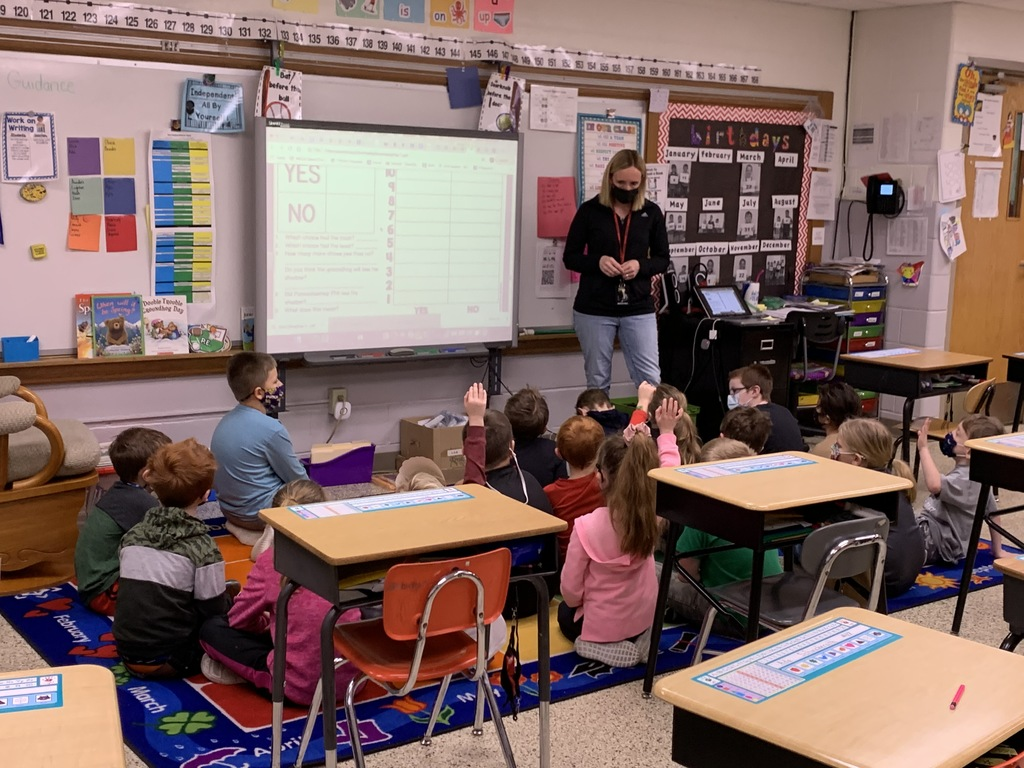 Would you rather fly a kite or ride a scooter?  Part of the morning meeting in Mrs. Wickham's first grade class. Groundhogs Day brings conversation on what is spring & what does hibernation?  Also a lesson on prediction.