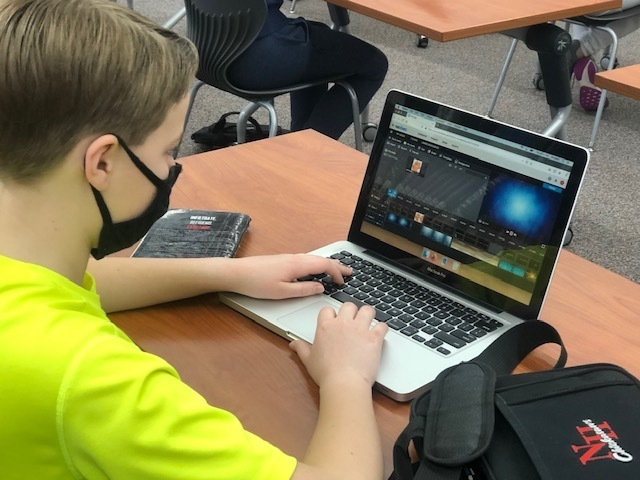 7th graders in the library created book trailers over books they read using WeVideo.  Check out the library website to see what they created! https://sites.google.com/new-hampton.k12.ia.us/nh-middle-school-library/home