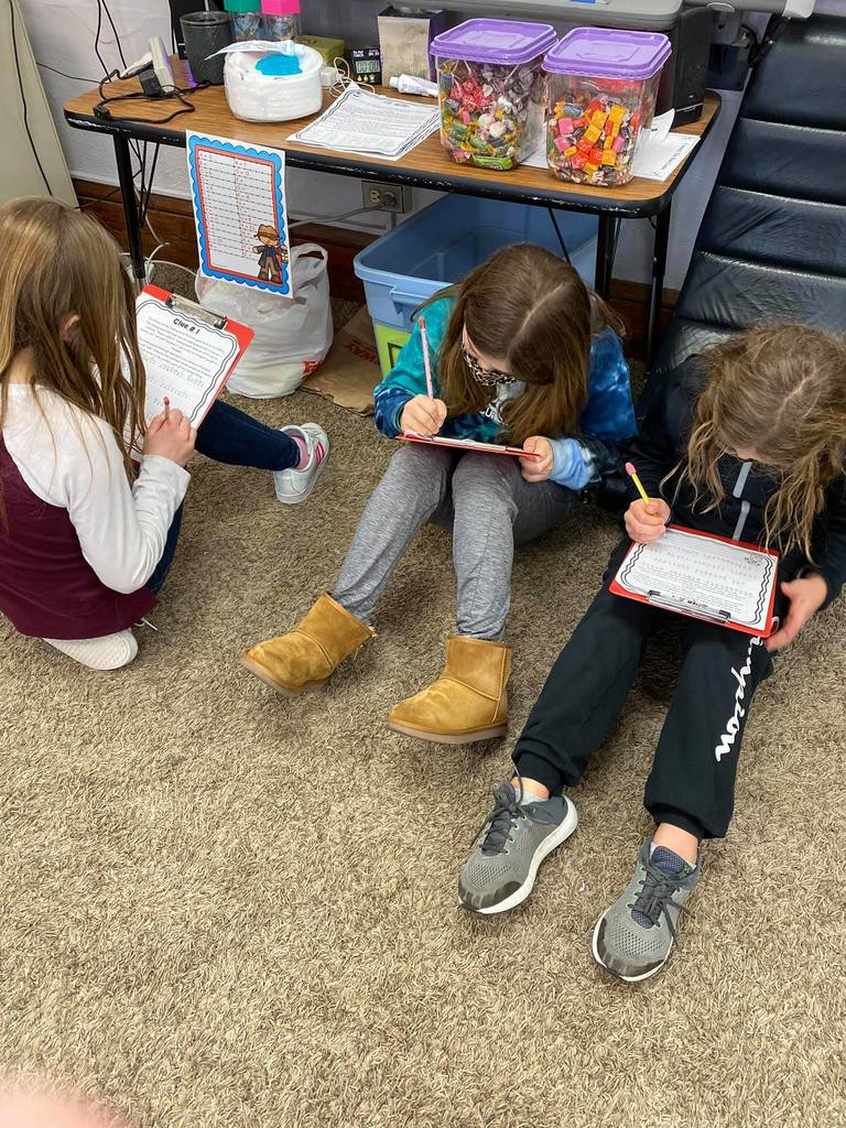 "Harriet Tubman and the Underground Railroad Escape Room.  Fourth-grade students complete a secret mission to decode interesting facts about the Underground Railroad.   This will prepare them with some background knowledge as we will watch a ""virtual"" play presented by the Gallagher Bluedorn next week."
