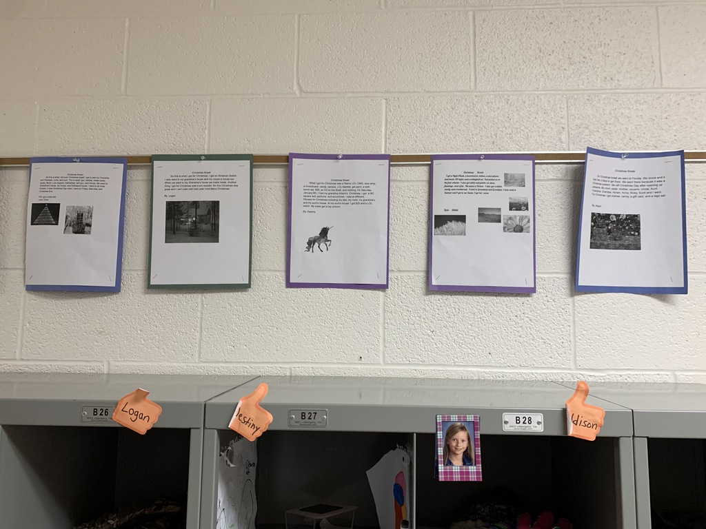 Understanding the importance of goal setting and displaying student work. The 2nd and 3rd grade teachers use hallways to display students' goals for 2021 and their writing skills.