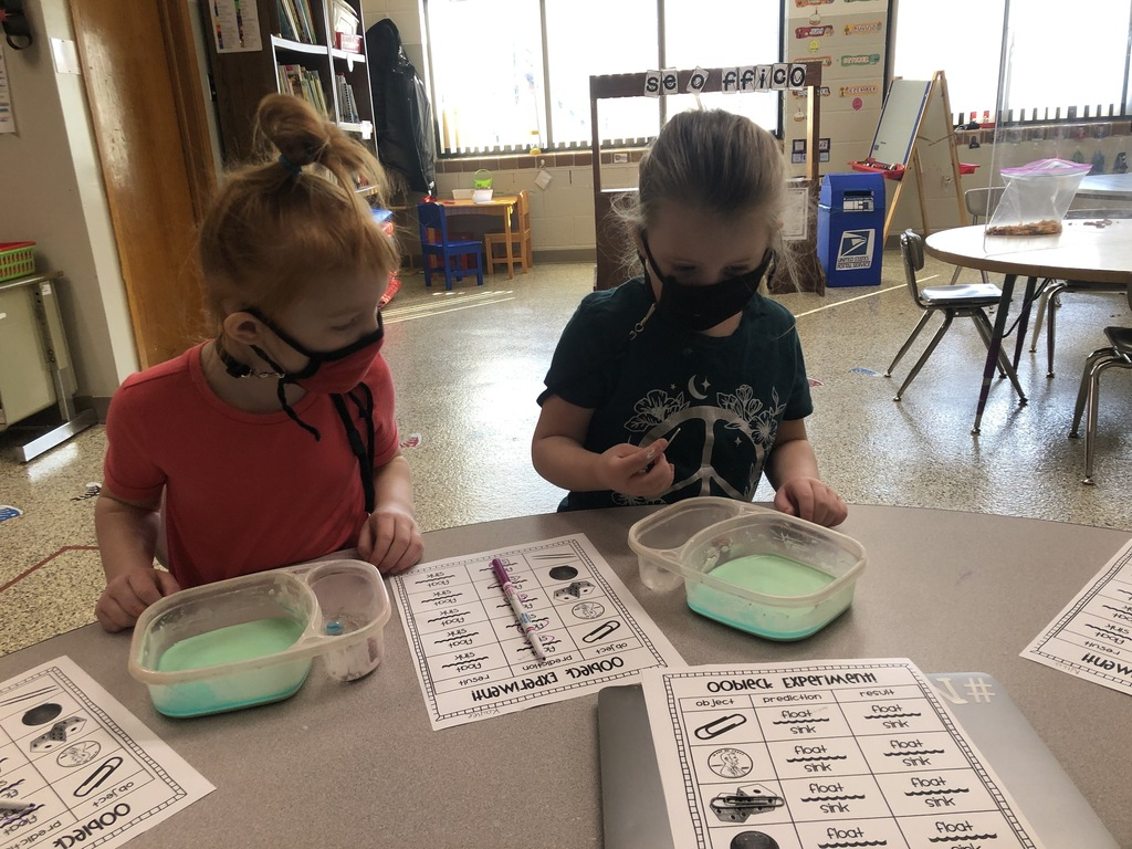 Miss Bredman's preschool class has been reading Dr. Seuss books. They then made predictions, and found out what things will sink or float with Oobleck.