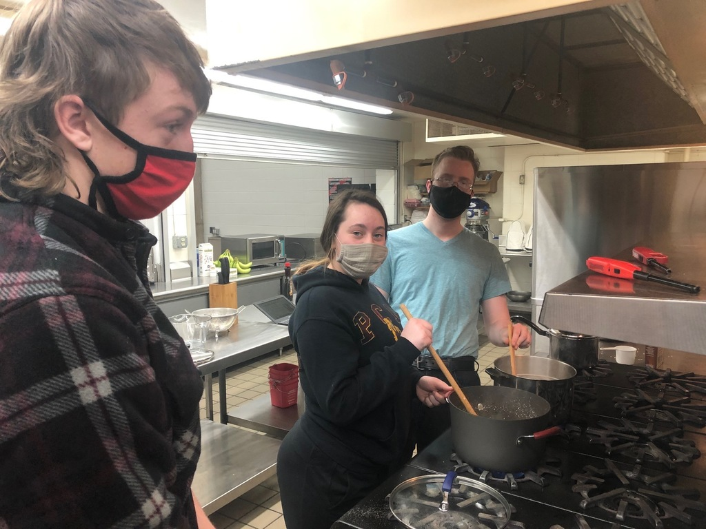 We had great success in Mrs. Schmitt's Foods II Grain lab today. They learned about all of the kinds of grain from quinoa to milet and more kinds of pasta than I can mention! The students learned about how to store and prepare pasta and rice. What do you mean whole wheat flour should be stored in the refrigerator? Yes, it should be. The high school students are working on a Norman Borlaug presentation too! They are becoming quite the good chefs!