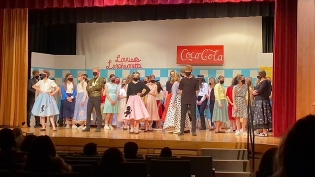 The cast did an amazing job performing for the 5th/6th graders this morning.  Performances will be Thursday/Friday Night at 7 pm.