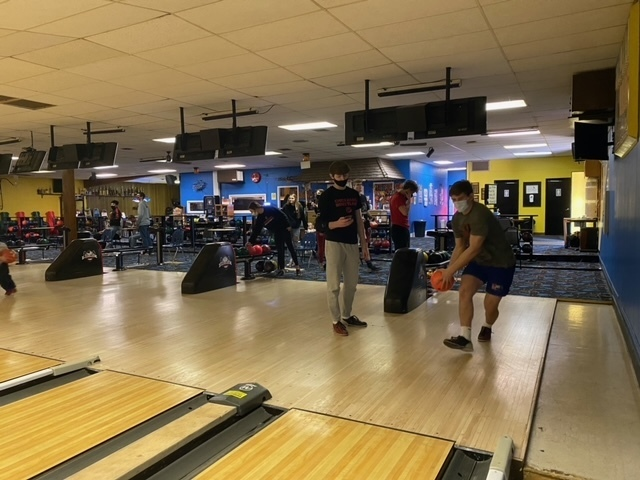 Mrs. Orht's Physics class went  on their conceptual Physics Field Trip to Bowlaway Lanes where students calculated force, power, work, velocity & momentum of bowling. Even their pregnant teacher bowled, so fun was had by us all!! Thanks to Josh & Laura for opening the bowling alley early for then!!