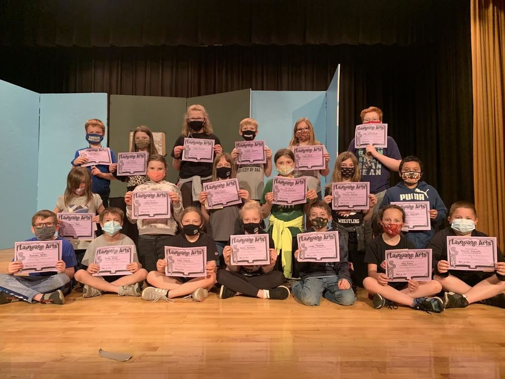 4th graders had their 3rd Quarter awards recognition today April 6th. Awards include: Reading, Language Arts,  Social Sciences, Science, Math, BUG (Brought Up Grades), Honor Roll, and TRIBE! Way to go 4th graders!