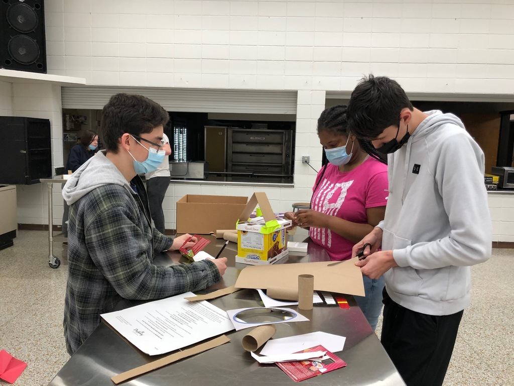 The construction process in Mrs. Schmitt's Housing & Interior Design Class.