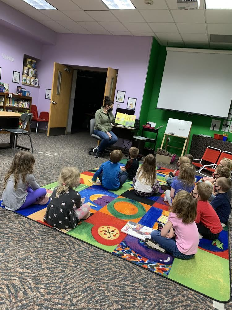 Mrs. Knutson's preschool class was so excited to finally visit the school library this year! Thanks Ms. Brincks for making our first visit so special!