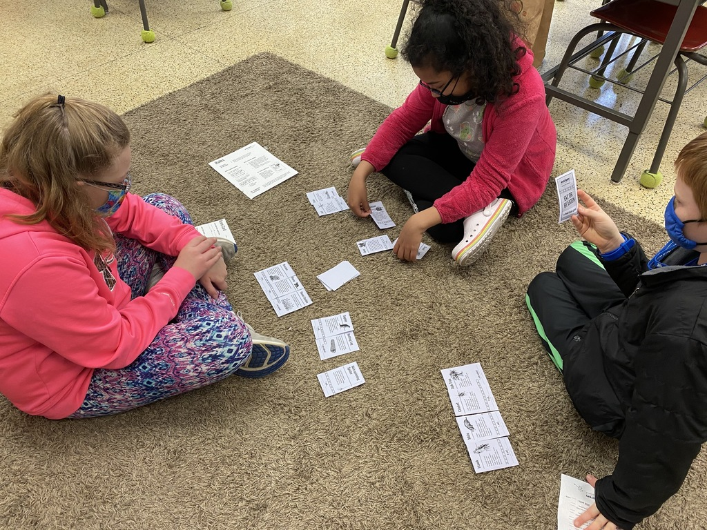"Fourth-graders enjoyed playing the game ""Eat or Be Eaten"" to help them learn more about food chains."
