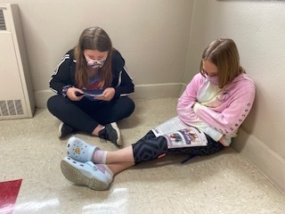 Students spend time reading Time for Kids magazine while keeping up with current events.