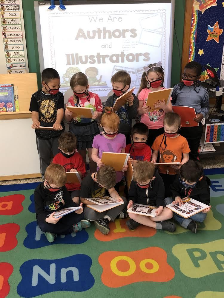 Miss Bredman's Preschool Class published their own book this month! The students are proud of their work and enjoyed being able to look at what each of their friends wanted to be when they grow up!