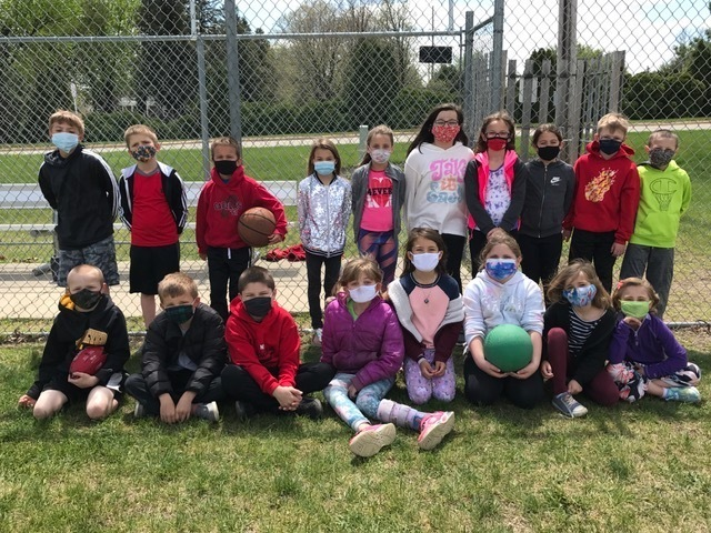 Mrs. Heeren's 2nd grade class enjoyed time at Stolz Park today as a reward for earning a class party. Everyone had fun playing kickball, basketball and soccer.