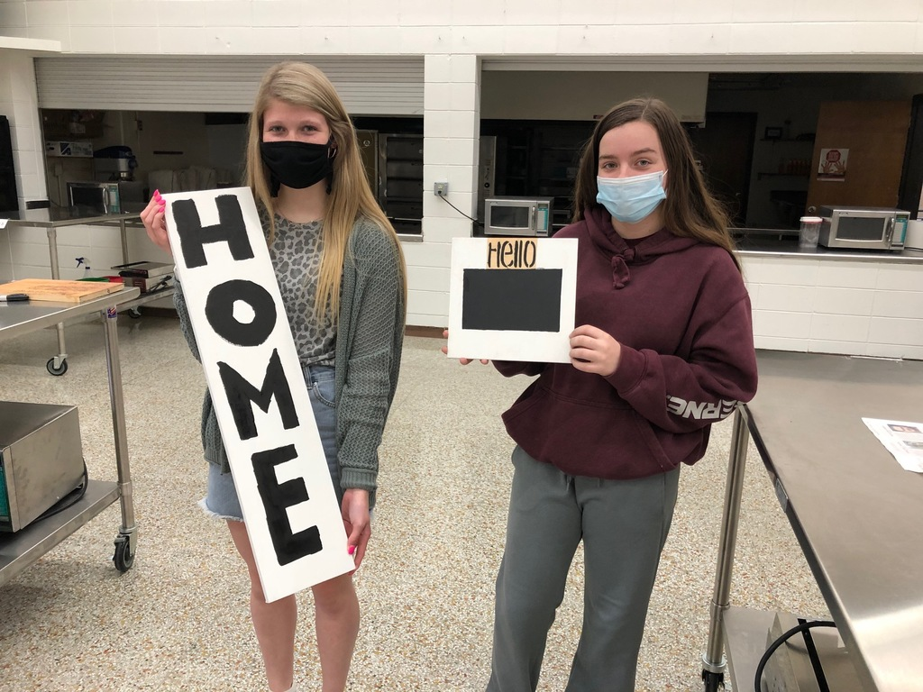 Home Signs were made in Housing & Interior Design Class during our Construction Unit. The wood was very special to Mrs. Schmitt as it came from her late father's wood working shop.