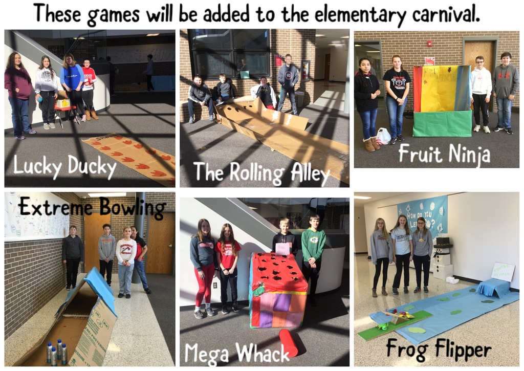 7th grade Carnival Games selected for 2020