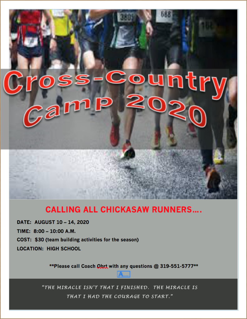 Cross Country Camp 2020